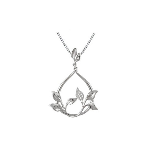 Celebrate nature with this stunning leaf pendant.