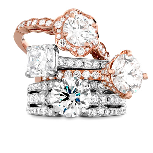 There are many band options with a solitaire engagemnt ring.