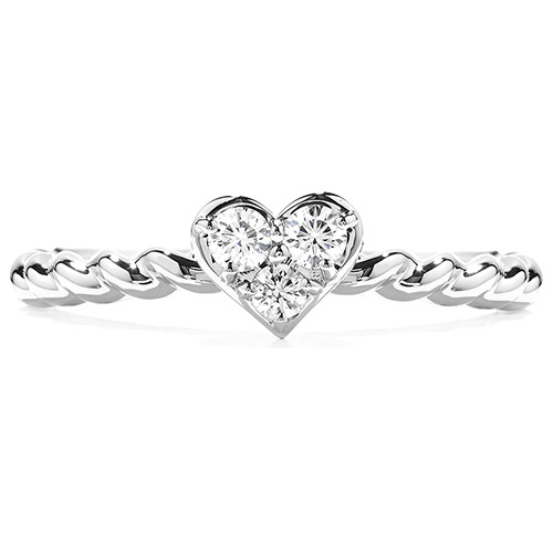 Diamond hearts are featured in many rings, earrings and pendants sold by Ben David Jewelers.