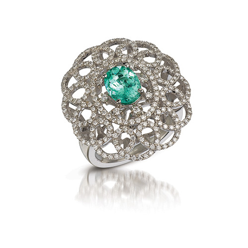 Green diamonds turn green due to unusual circumstances in the earth.
