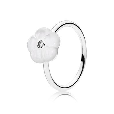 Enamel is used sometimes on Pandora rings.