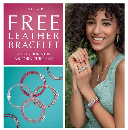 Get a free Pandora leather charm bracelet.