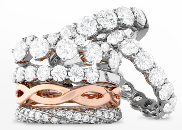 This is a small collection of wedding rings for women that are available from Hearts on Fire.