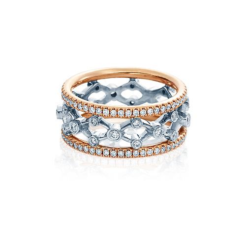 This diamond wedding band is designed by Verragio.