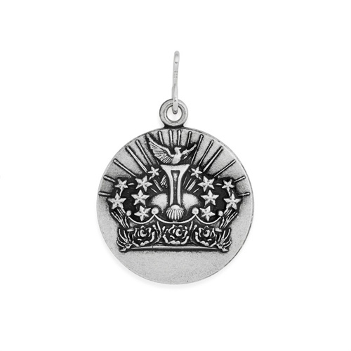 This charm is available in both gold and silver colored finishes.