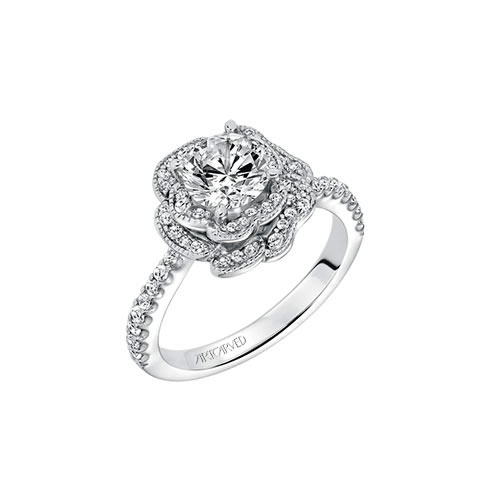 Many ring stores don't offer a finely crafted diamond engagement ring like ArtCarved Bridal creates.