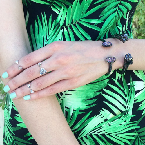 Kendra Scott designs affordable bracelets and rings.