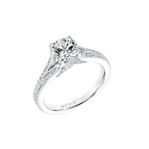 ArtCarved creates many traditional styles of engagement rings.