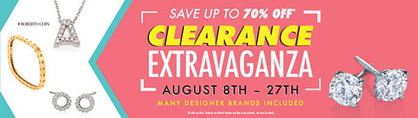 Clearance sale at Ben David Jewelers.