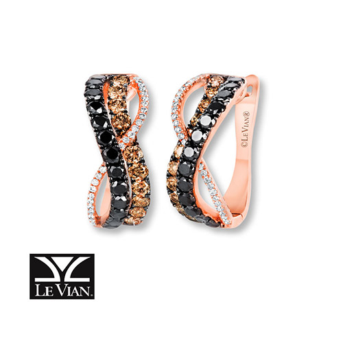 Le Vian also creates jewelry with what they call Chocolate diamonds.