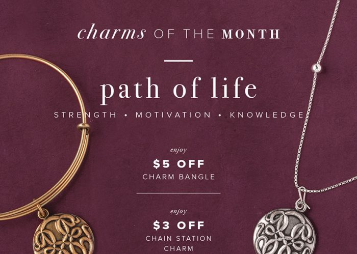 Alex and Ani Charm of the Month for October, 2016, is Path of Life.
