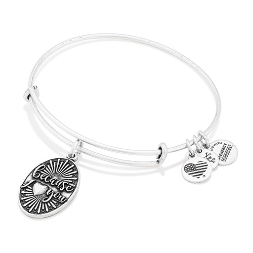 """Because I Love You"" bangle from Alex and Ani could be free with this promotion."