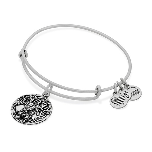 Tree of Life Bangle in Rafaelian Silver by Alex and Ani