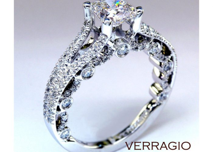 Vintage engagement rings are frequently found in the estate sale case.