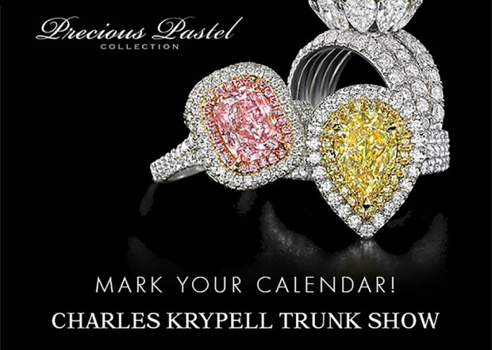 This trunk show features the diamond jewelry of Charles Krypell and Hearts on Fire.