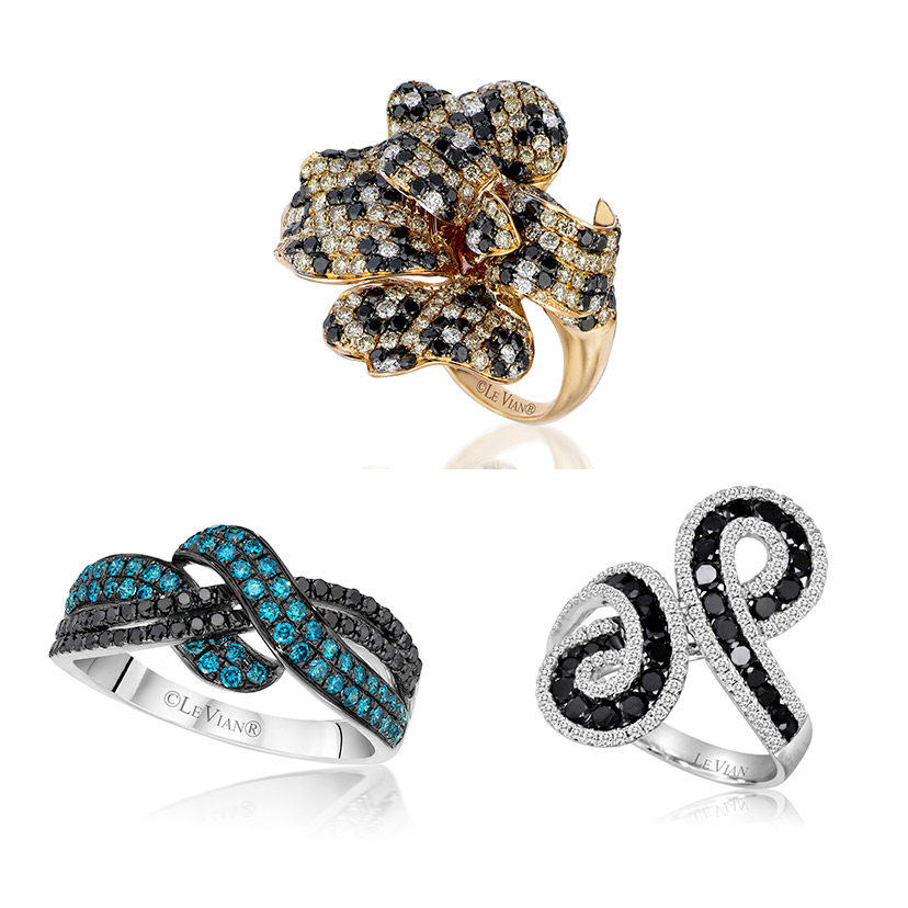 Le Vian rings created using black diamonds.
