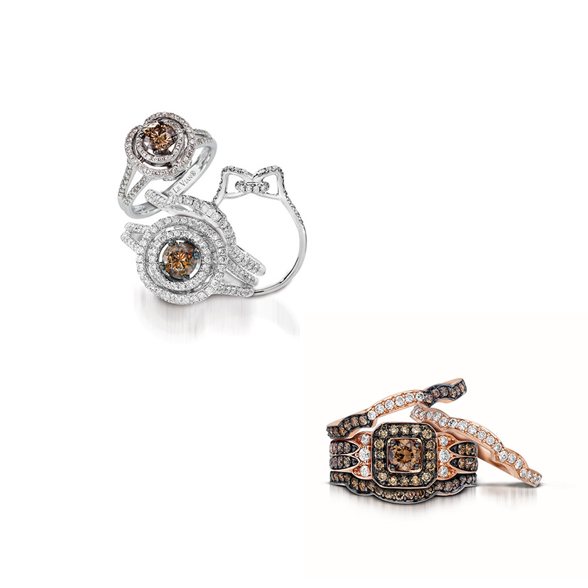 Le Vian wedding bands offers so many colorful, sparkling choices.