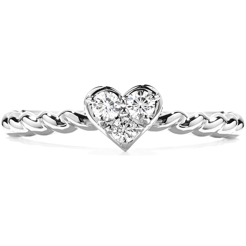 A small, stackable diamond ring makes a beautiful promise ring.