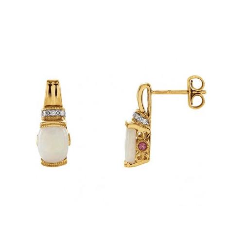 Opal earrings sold by Ben David Jewelers in Danville, VA.
