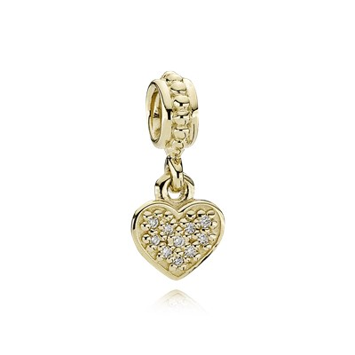 Pave Brilliant Heart Charm by Pandora