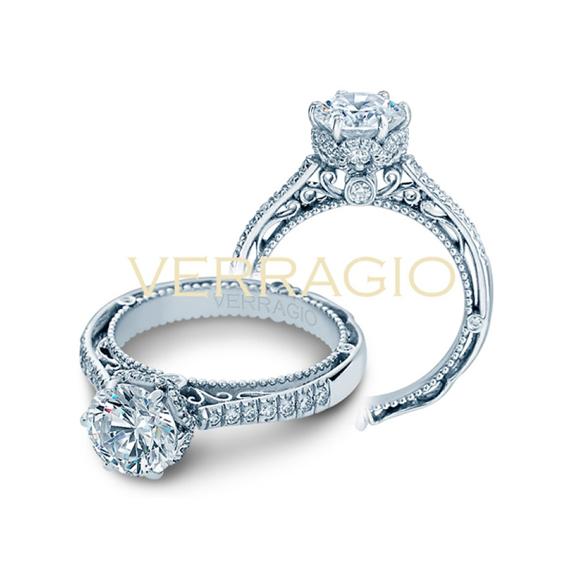 The Verragio engagement ring comes before writing the wedding vows.