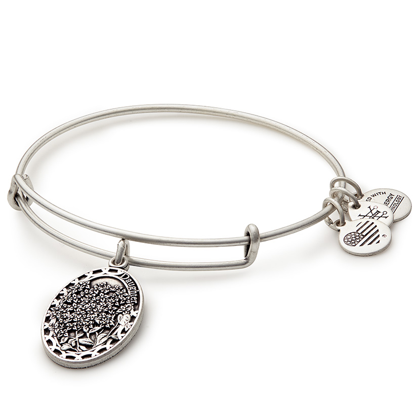 The Alex and Ani Daughter Charm is a perfect gift for her birthday.