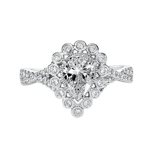 Pear Shape Diamond Engagement Ring by ArtCarved Bridal