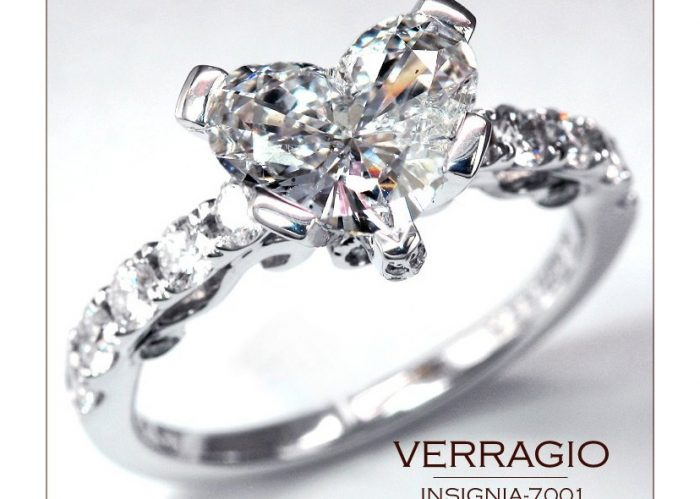 Heart engagement rings make for a very romantic proposal.