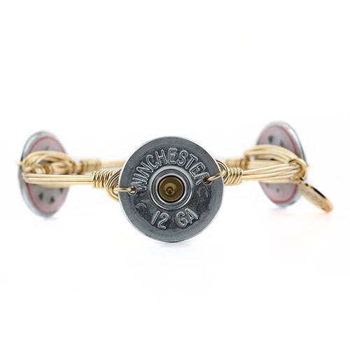 Artisan jewelry made from shotgun shells.