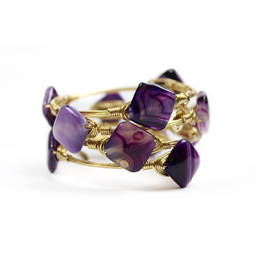 Amethyst Color Bangle by Bourbon and Boweties