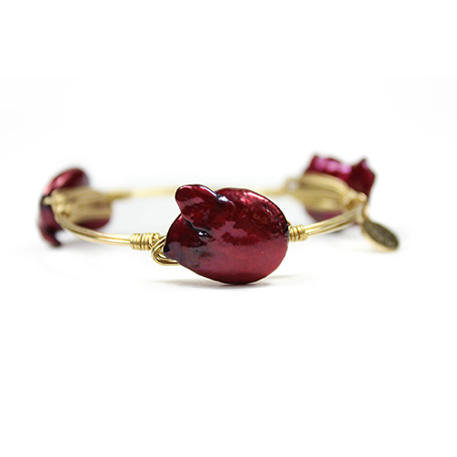 Deep Red Bangle by Bourbon and Boweties