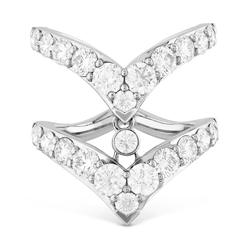 Triplicity Double Pointed Ring by Hearts on Fire