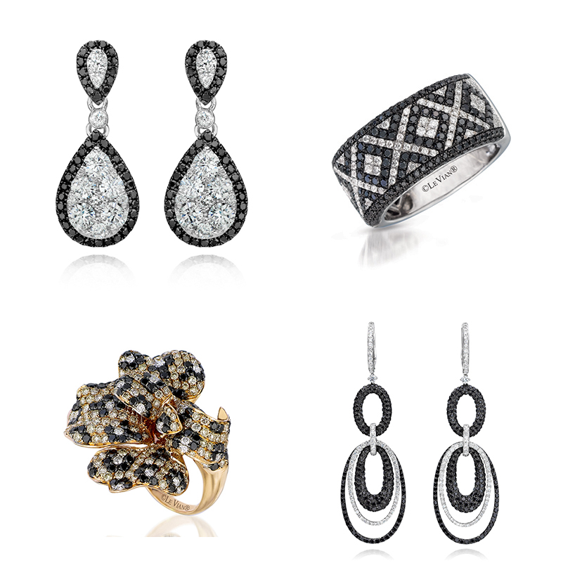 Le Vian makes beautiful jewelry with black diamonds.