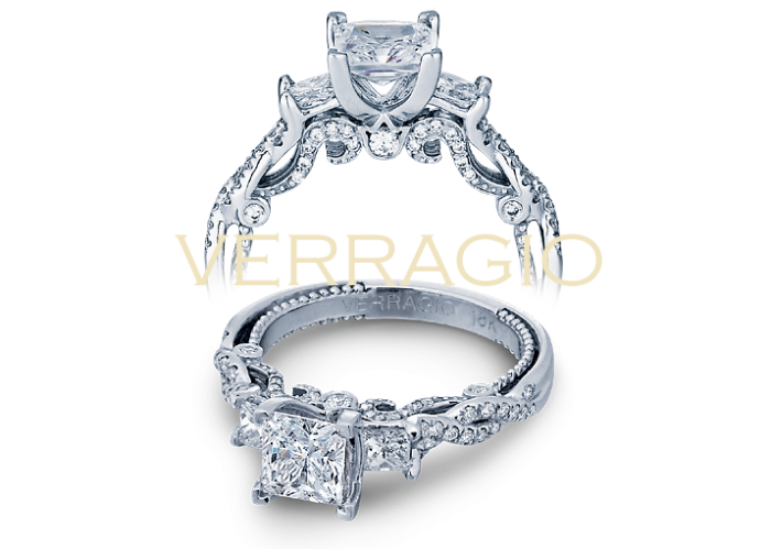 Verragio designs princess cut engagement rings.