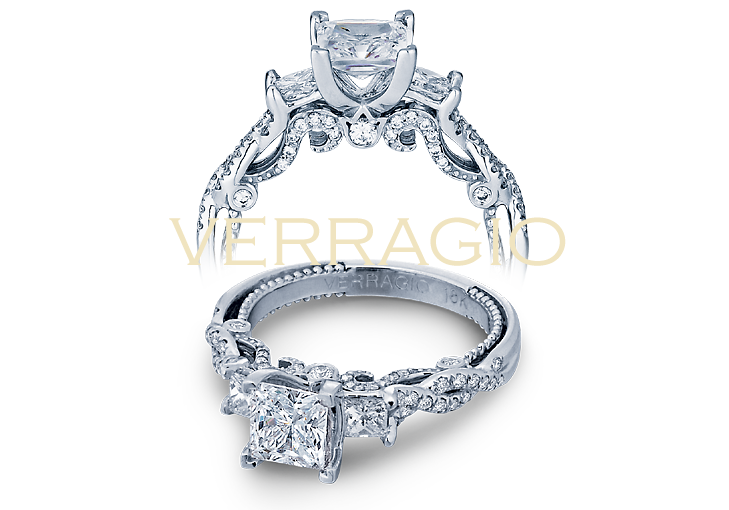 Verragio designs princess cut engagement rings.