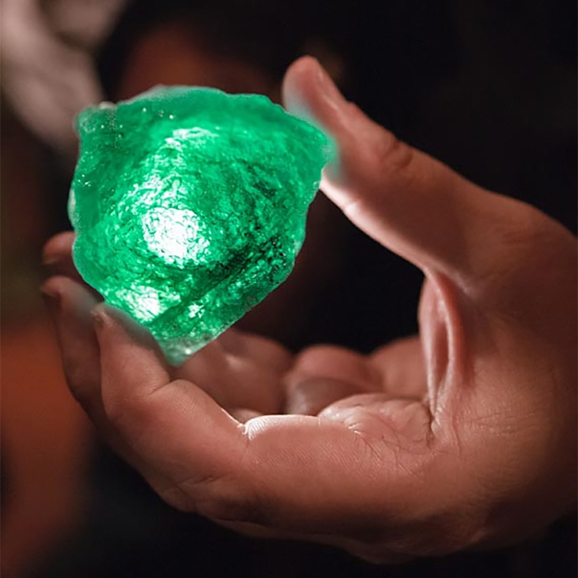 The beauty of the emerald is unmatched.