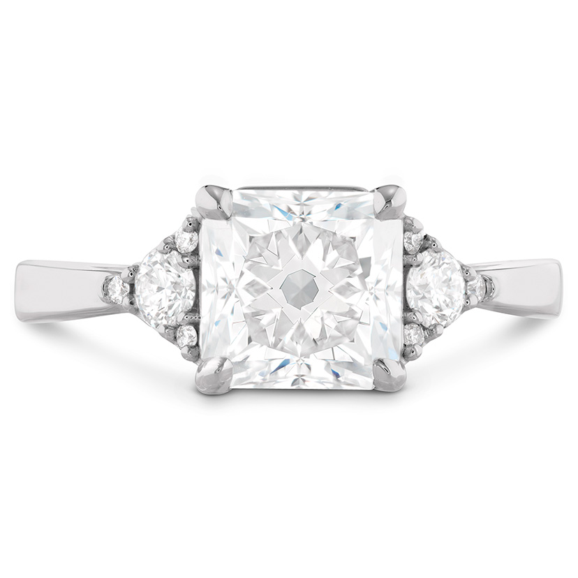 A ring like the Triplicity Dream Engagement Ring should have diamond cleaning done by a fine jeweler.