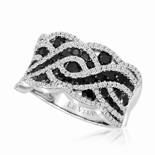Black and White Diamond Cocktail Ring by Le Vian