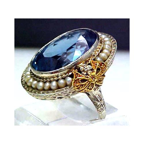 Edwardian 14K White Gold Filigree Ring, photo by Perfect Jewels