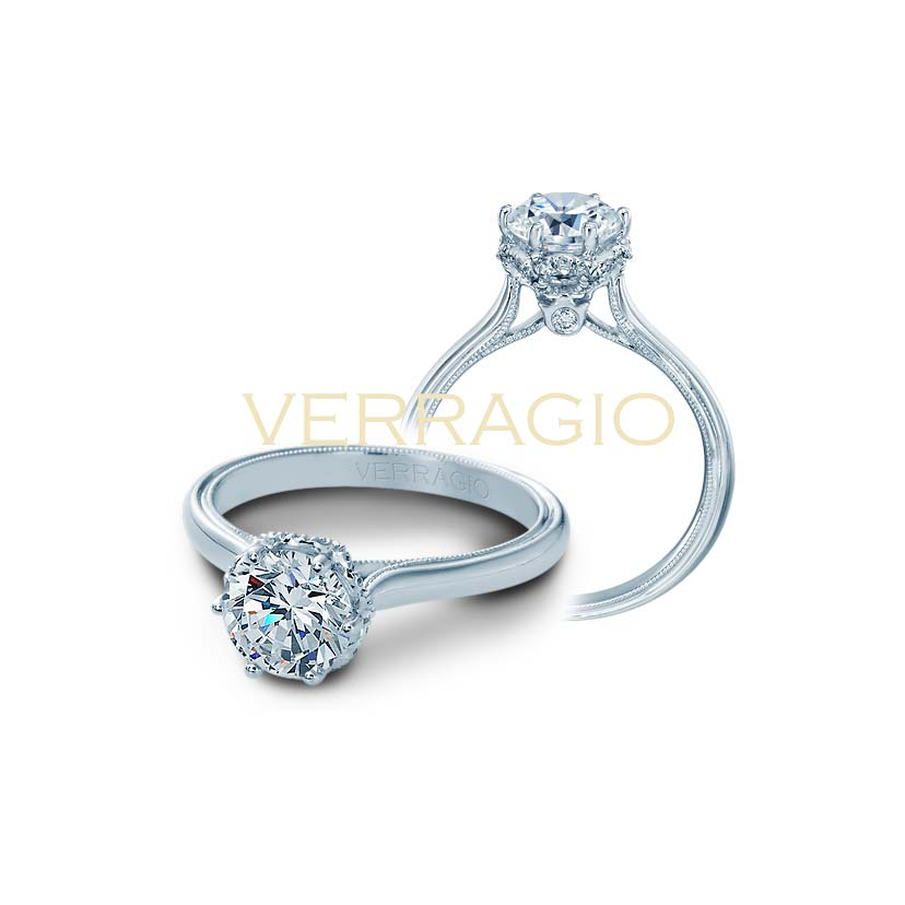 This diamond engagement ring is the lower Verragio price range.