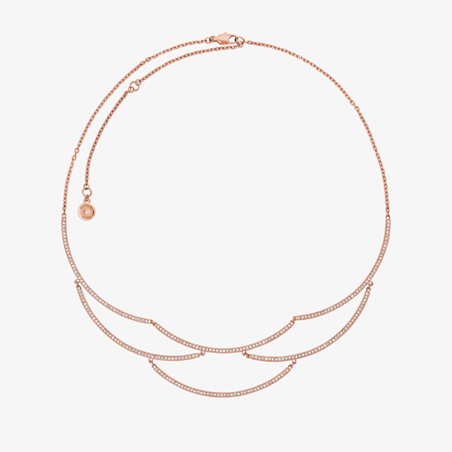 Rose-Gold Wave Statement Necklace by Michael Kors