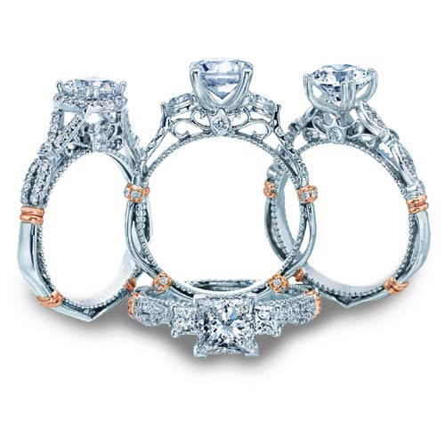 Verragio offers a Parisian collection of engagement rings.