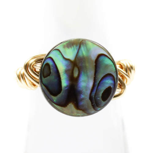Abalone Shell Ring by Bourbon and Boweties