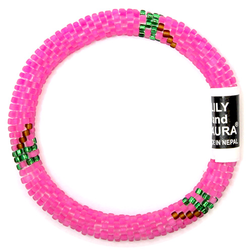 Pink and Palm Trees Bracelet by Lily and Laura