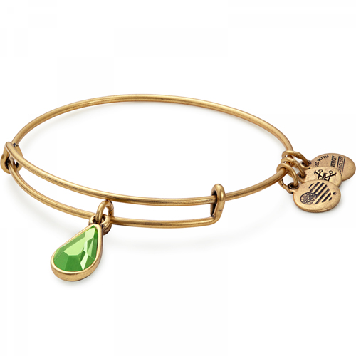 August Birthstone and Charm Bangle by Alex and Ani
