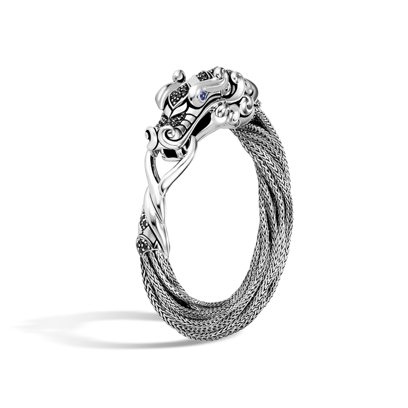 Naga Multi-Row Bracelet with Black Sapphire by John Hardy