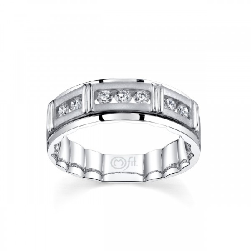 MFIT® 1/2Ctw 7 Diamond Band 7MM In 10KT White Gold