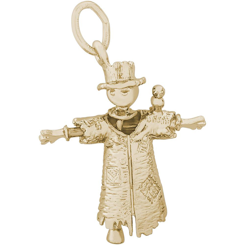 Scarecrow 14k Gold Charm by Rembrandt Charms