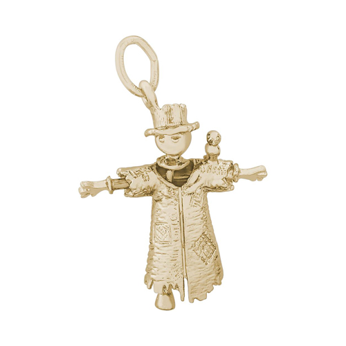Scarecrow Gold Charm by Rembrandt Charms