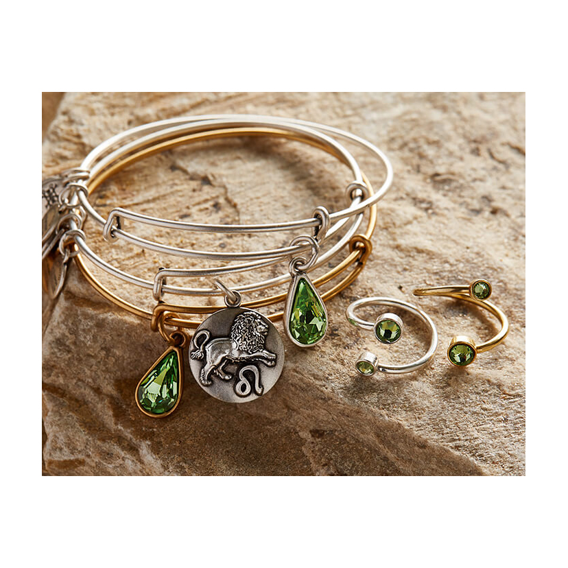 The August Alex and Ani Charm of the Month features the August birthstone.